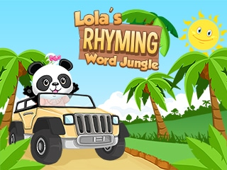 Rhyming word learning game for children