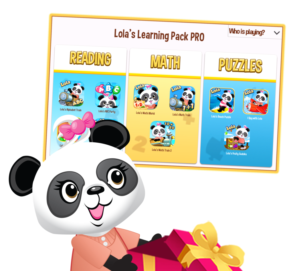 Screenshot of Lola Panda learning solution for preschool